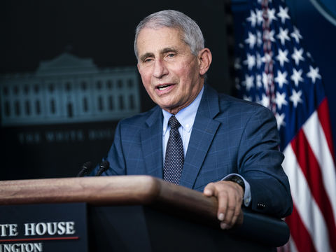 Dr. Anthony Fauci Says It's 'Possible' Americans Will Still Be Wearing…