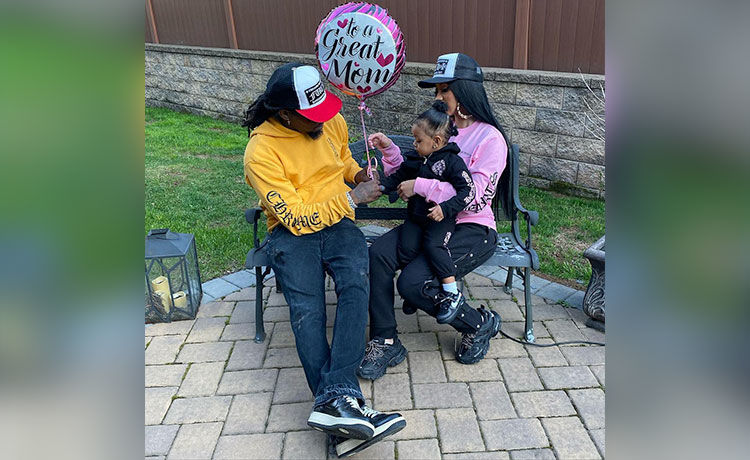 Offset Gives Daughter Kulture a 'Pretty' Manicure!