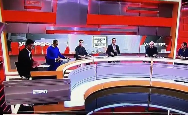 Soccer Journalist Crushed by Falling Wall on TV Set