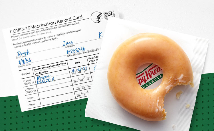 Krispy Kreme Is Giving Away FREE Doughnuts to the Vaccinated!