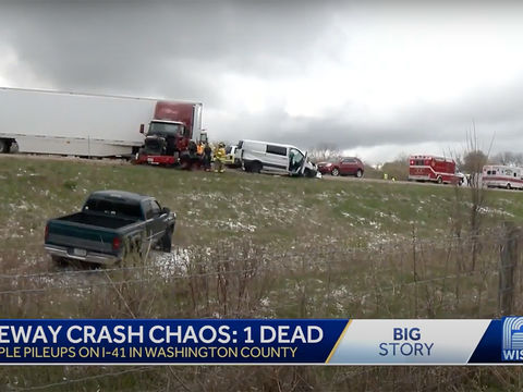 Woman Dies After 48-Car Pileup in Wisconsin