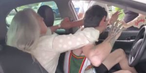 55-Year-Old Woman Awakens from Nap and Attacks Uber Driver!